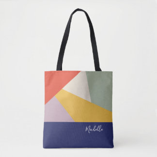 Tote Bag Motif géométrique moderne | de triangles