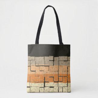 Tote Bag Motif gris noir frais de pêche de jaune orange
