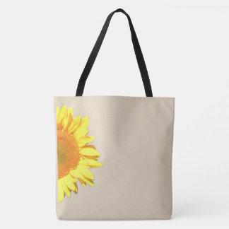 Tote Bag Motif jaune de tournesol avec des options Editable