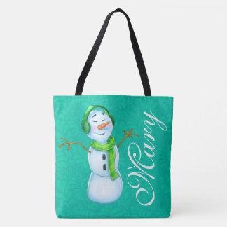 Tote Bag motif nommé customisé de bande dessinée de dame de