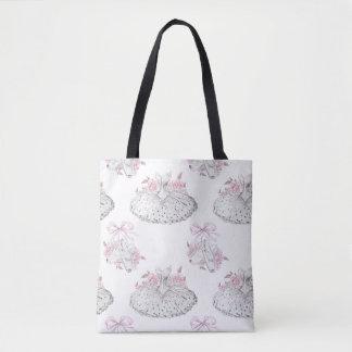 Tote Bag Motif romantique avec des robes de ballet et le
