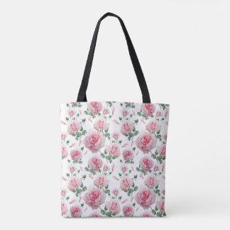 Tote Bag Motif rose de roses de dispersion