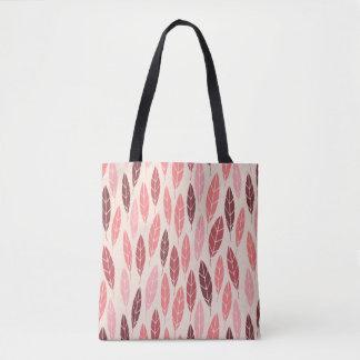 Tote Bag Motif rose et rouge d'automne mignon de feuille