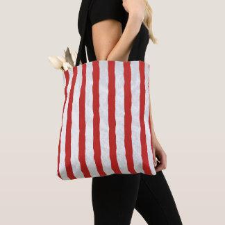 Tote Bag Motif rouge et blanc de rayure