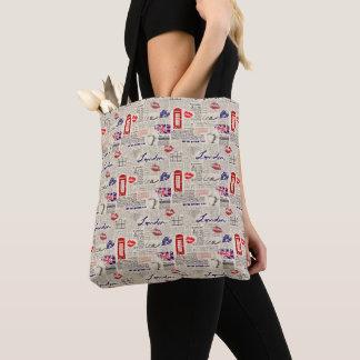 Tote Bag Motif sans couture orienté de Londres avec des