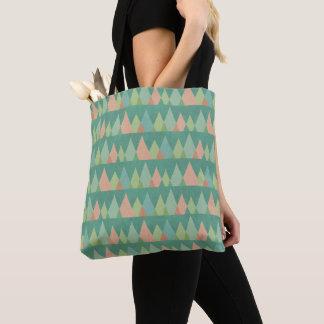 Tote Bag Motif turquoise de triangle d'étape | de Geo de