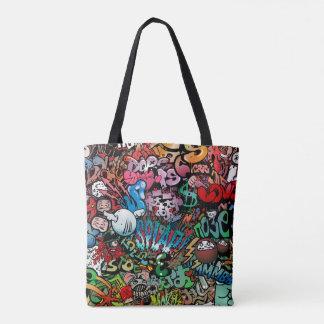 Tote Bag Motif urbain de caractères de graffiti d'art de