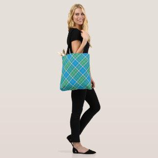 Tote Bag Motif vibrant de plaid