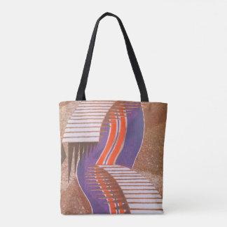 Tote Bag Motif vintage d'étape d'escalier de Pochoir de
