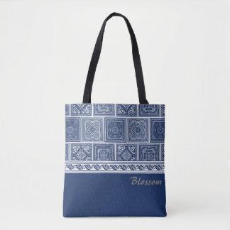 Tote Bag Motifs chinois d'indigo