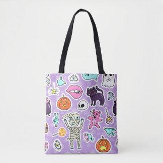 Tote Bag Motifs de Halloween de des bonbons ou un sort