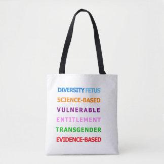 Tote Bag Mots interdits par CDC - fourre-tout coloré