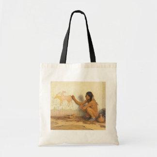 Tote Bag Natif américain vintage, artiste indien par Couse