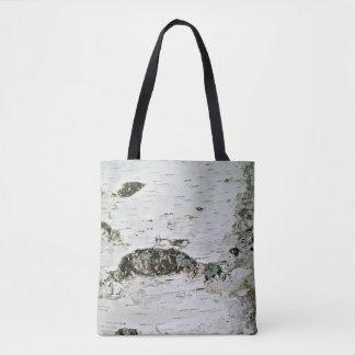 Tote Bag Nature Fourre-tout de tronc d'arbre de bouleau