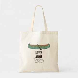 Tote Bag Ne cessez jamais d'explorer le canoë