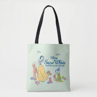 Tote Bag Neige blanche et stupéfiée avec des amis