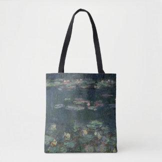 Tote Bag Nénuphars de Claude Monet | : Réflexions vertes