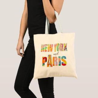 Tote Bag New York et Paris