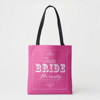 Tote Bag Noce Fourre-tout (fuchsia) de typographie de JEUNE