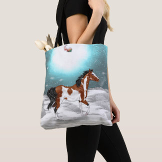 Tote Bag Noël Arabe de cheval de Pinto