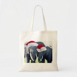 Tote Bag Noël inoubliable d'éléphant