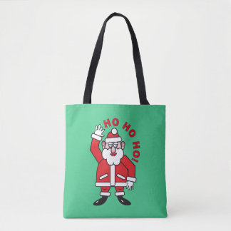 Tote Bag Noël le père noël HO HO HO ! 02,8
