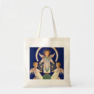 Tote Bag Noël vintage, anges de Père Noël Lucia de