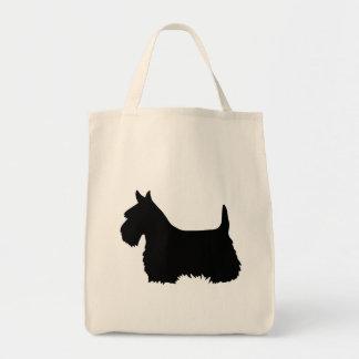 Tote Bag Noir de Terrier d'écossais, silhouette