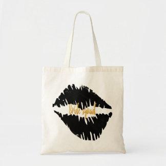 Tote Bag Noircissez un baiser Goth de peloton de jeune
