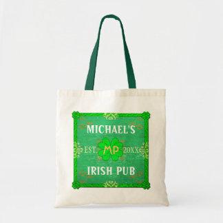 Tote Bag Nom fait sur commande irlandais du vert   de