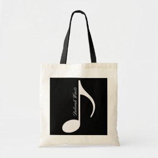 Tote Bag note musicale graphique personnalisée