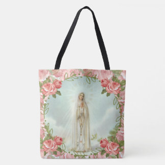 Tote Bag Notre Madame des roses roses de Fatima