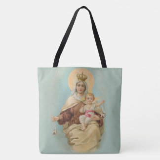 Tote Bag Notre Madame du mont Carmel avec le bébé Jésus