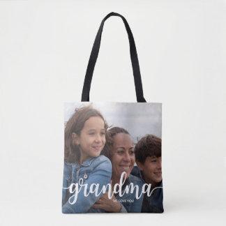 Tote Bag Nous vous aimons grand-maman | deux pleines photos