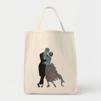 Tote Bag Nouveaux mariés vintages d'art déco, danse de