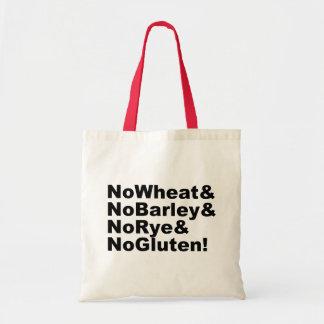 Tote Bag NoWheat&NoBarley&NoRye&NoGluten ! (noir)