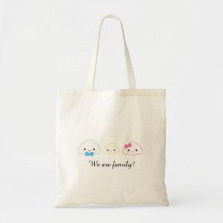 Tote Bag Nuage de famille de Kawaii