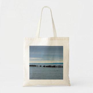 Tote Bag Nuageux à la baie de poisson à chair blanche