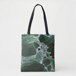 Tote Bag Nuances profondes rares de marbre vert