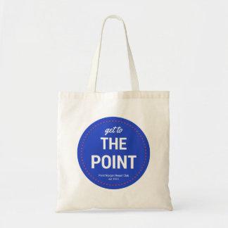 Tote Bag Obtenez au point (cercle w/dots) Fourre-tout