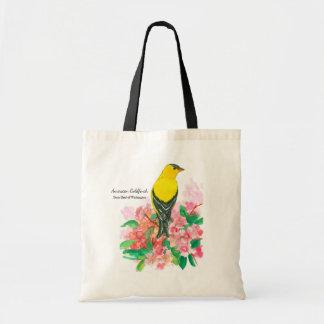 Tote Bag Oiseau américain jaune de l'état de Washington de