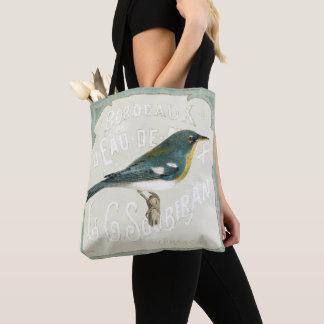 Tote Bag Oiseau vintage faisant face à la droite