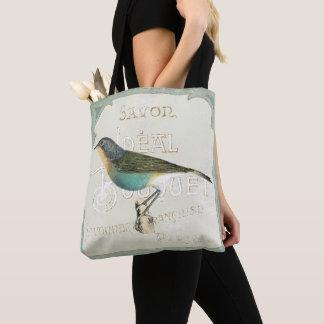 Tote Bag Oiseau vintage faisant face à la gauche