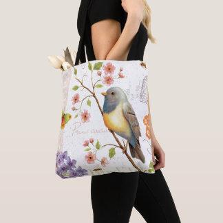 Tote Bag Oiseaux et abeilles