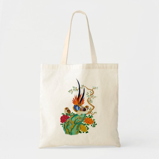 Tote Bag Oiseaux et fleurs