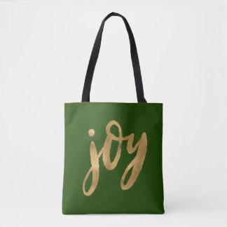 Tote Bag Or de manuscrit de joie et Noël fait sur commande