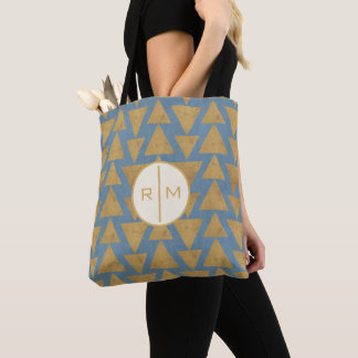 Tote Bag Or extérieur d'étape | de Geo et motif bleu