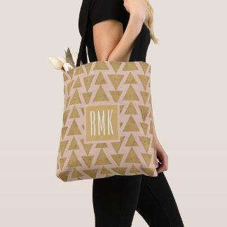 Tote Bag Or extérieur d'étape | de Geo et motif géométrique