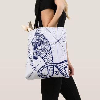 Tote Bag Or Fourre-tout graphique monochrome de marine de