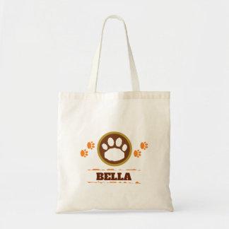 Tote Bag Orange et pattes pratiques d'animal familier de